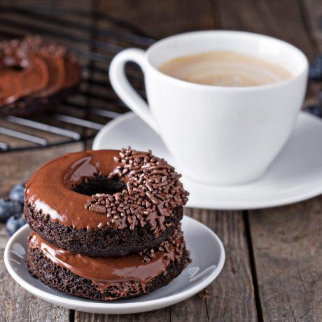 Keto Glazed Chocolate Donuts
