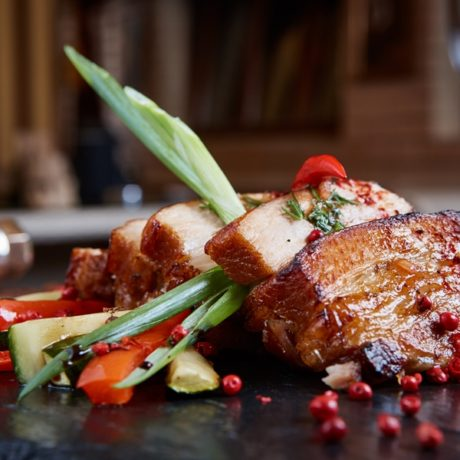 Spiced Pork Belly With Ginger And Cilantro